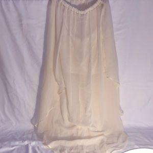 XS Cream long skirt *see description*